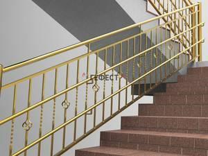 перила для лестницы из металла фото