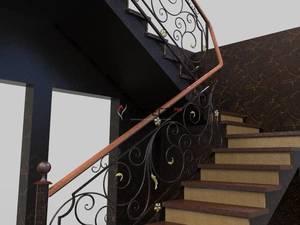 лестницы на металлических косоурах фото